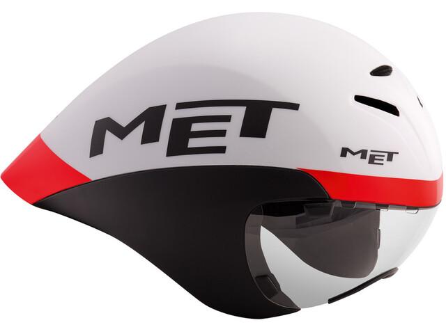 MET Drone Kask rowerowy biały/czarny